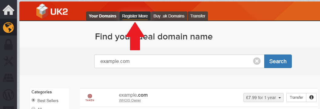 register more domains