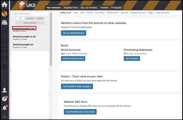 How To Edit DNS - UK2 net - UK2 net Knowledgebase
