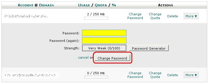 change password