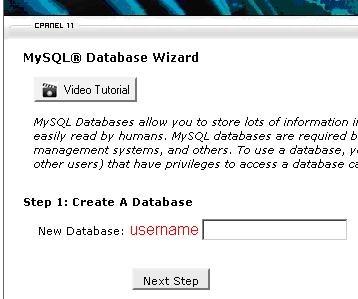 How To Use The MySQL Database Wizard - UK2 net - UK2 net Knowledgebase