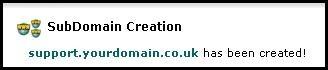 create subdomain