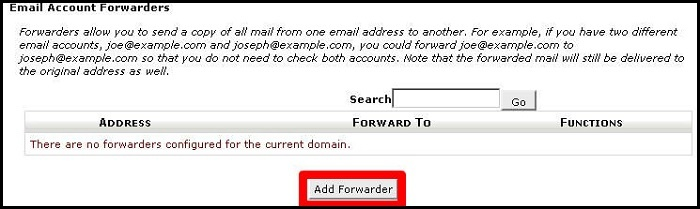 How To Create An Email Forwarder In cPanel - UK2 net - UK2 net