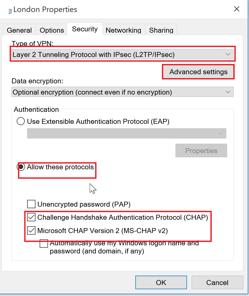 How To Set Up A VPN In Windows 10 L2TP - UK2 net - UK2 net