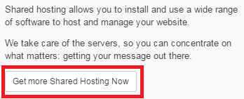 get more shared hosting