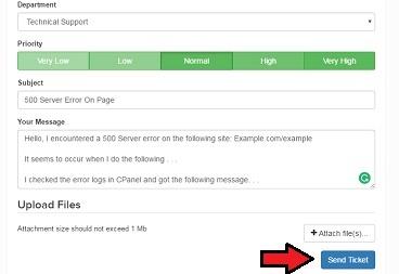 How To Resolve 500 Error - UK2 net - UK2 net Knowledgebase