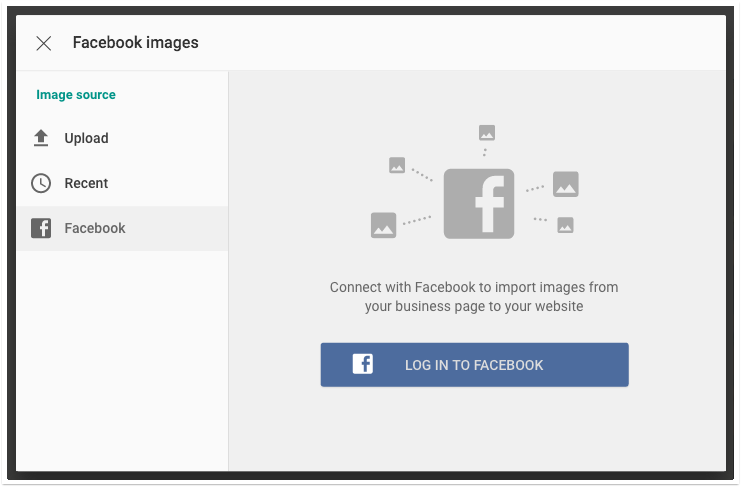 choose facebook image
