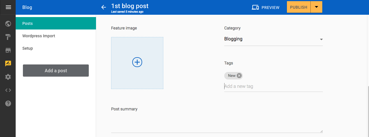 add new blog tag